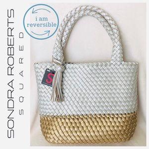 Sondra Roberts Squared Reversible Gold/Silver Bag